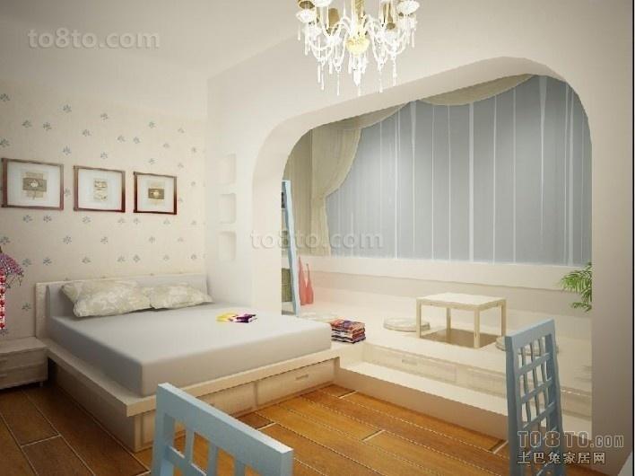 卧室拱形飘窗装修效果图