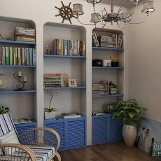 地中海风格小书房装修效果图