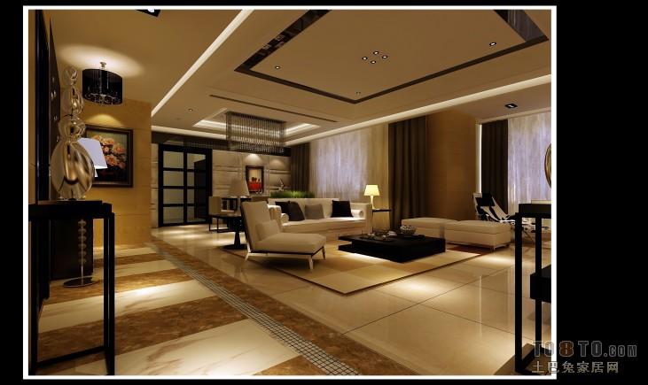 热门面积96平美式三居装修效果图片大全