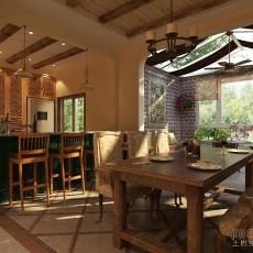 欧式厨房吧台装修设计