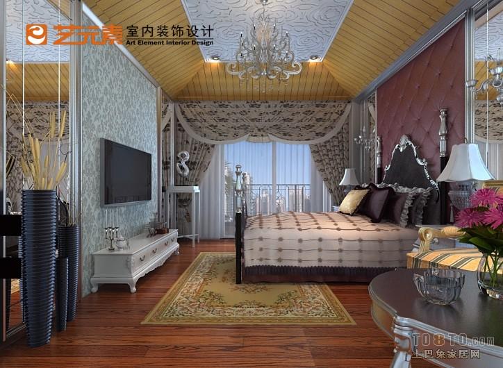 简欧经典风格卧室设计装饰效果图片