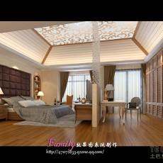 中式风格装修卧室图片大全