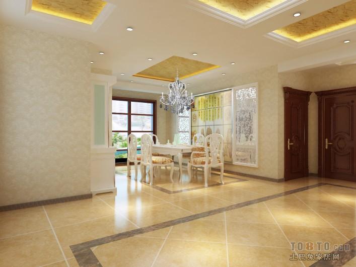 美式别墅厨房室内装修效果图片