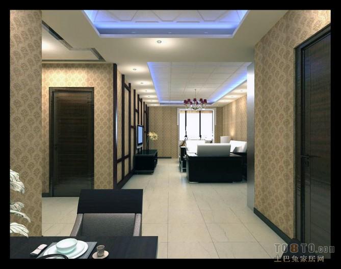 新中式风格设计别墅休闲区装饰效果图