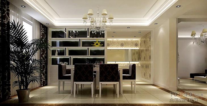 现代家庭餐厅装修效果图大全2013图片