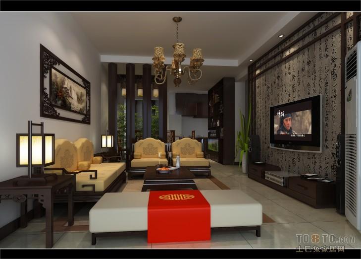 新中式风格家居餐厅装饰设计效果图