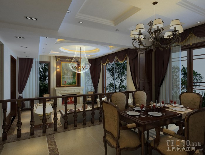 温暖地中海风格餐厅设计
