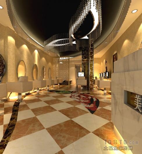 美式别墅厨房室内装修设计效果图片