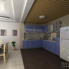 简约U型厨房橱柜效果图