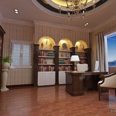 简欧书房柜子装修效果图