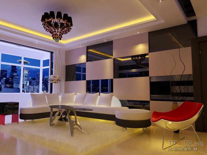 清新地中海风格客厅装修效果图
