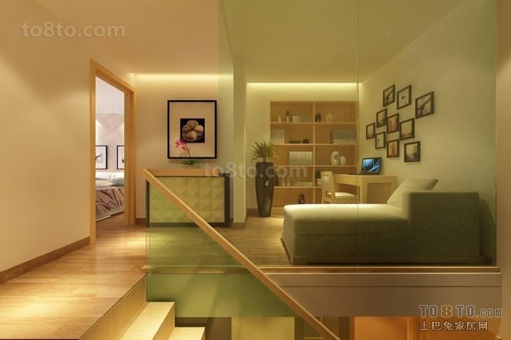 室内客厅玻璃隔断装修效果图