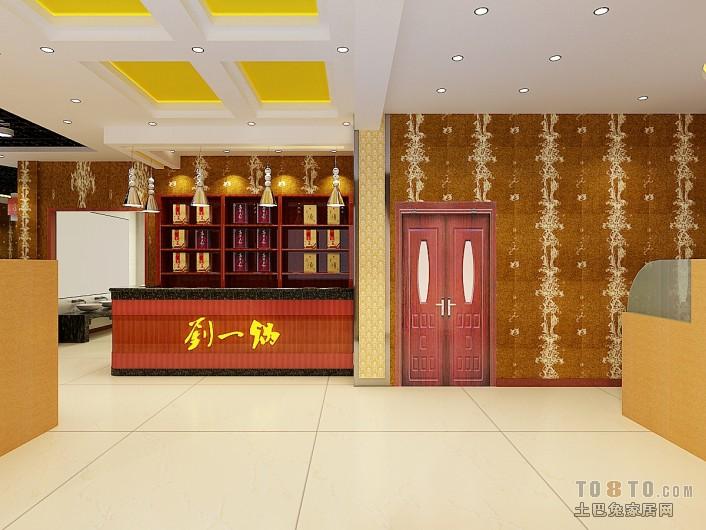 蓝色青花瓷中式餐厅装修