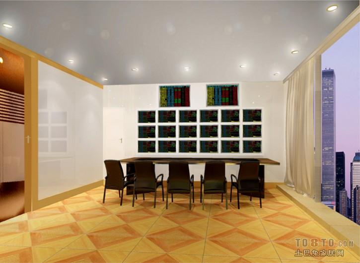 美式简约餐厅室内装修设计效果图