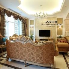 精美面积118平别墅客厅欧式装修实景图片欣赏