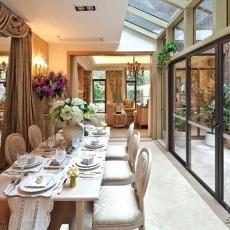 面积119平别墅餐厅欧式装修设计效果图
