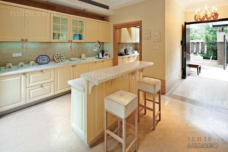 欧式厨房装修效果图 欧式厨房装修图片