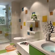 美式小卫生间装修效果图片