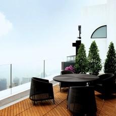 客厅生活阳台装修效果图大全2013图片