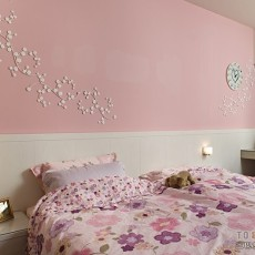儿童房粉色墙面装饰效果图