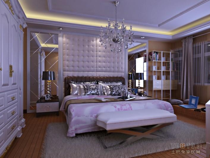 现代简约卧室布置展示