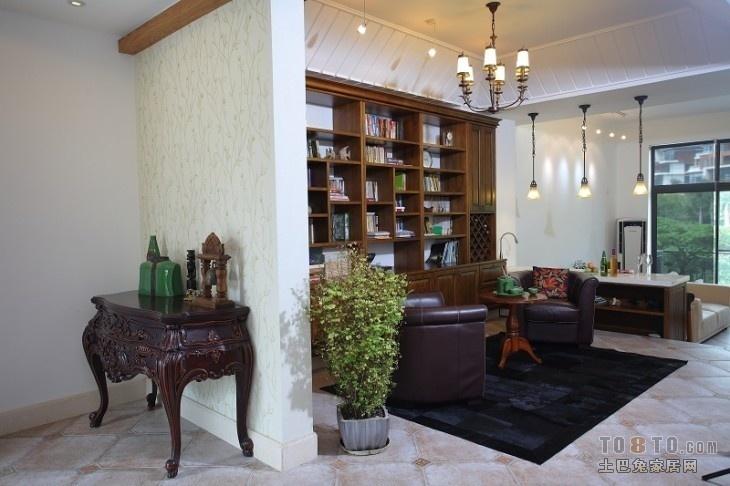 中式客厅玄关隔断装修效果图片