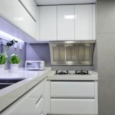 面积100平现代三居厨房装饰图片大全