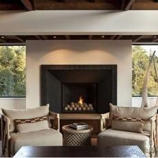 热门面积118平复式客厅欧式装修效果图片