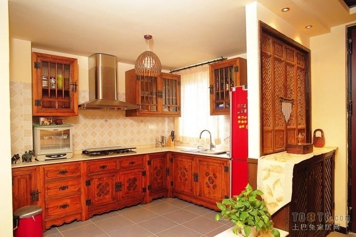 東南亞風格開放式廚房裝修效果圖