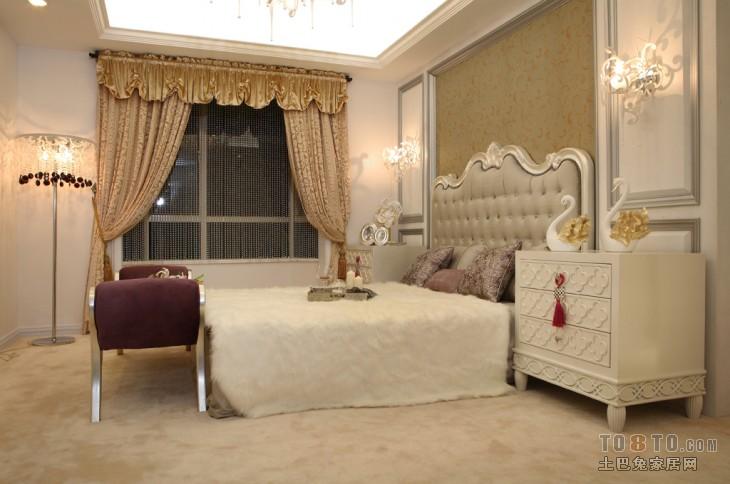 深色古典欧式卧室布置