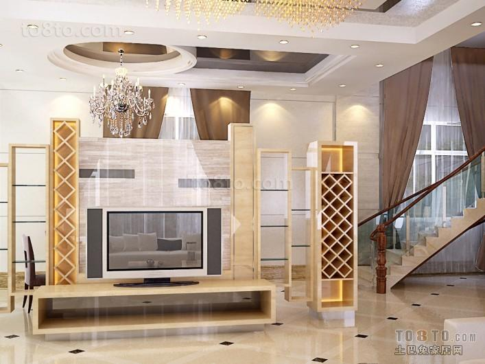 别墅客厅背景墙装修效果图大全2012图片