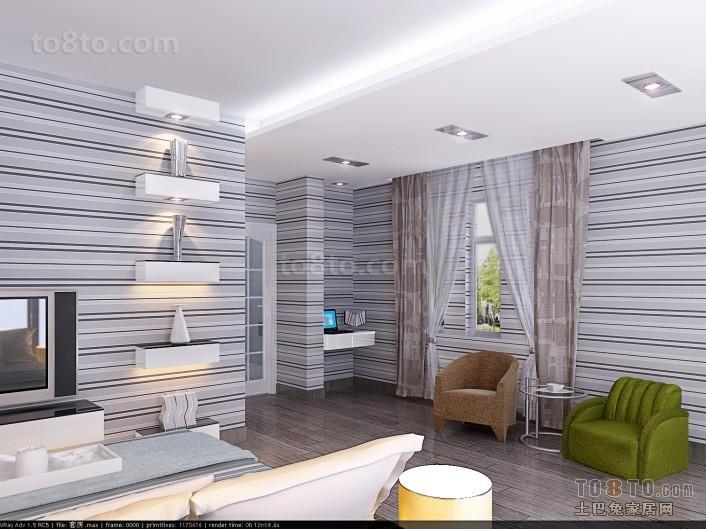 别墅客厅窗帘装修效果图大全2012图片