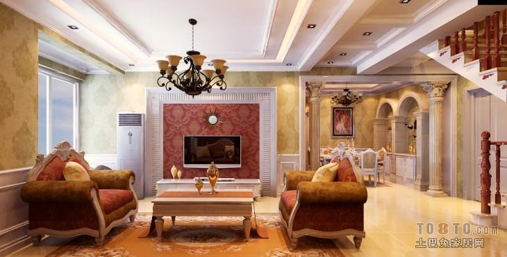 遇见美的欧式格调客厅设计效果图
