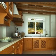 现代简约风格L型厨房橱柜效果图