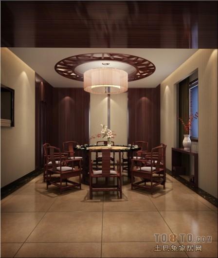 现代风格装修餐厅背景墙效果图