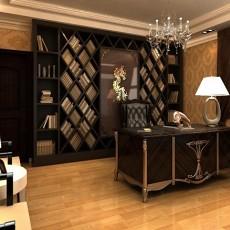 欧式别墅书房装修设计效果图