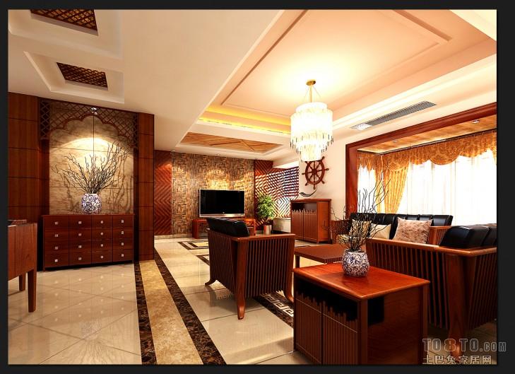 现代中式别墅厨房效果图欣赏