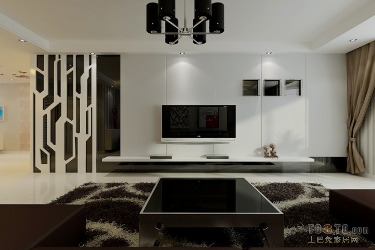 精选大小102平现代三居客厅装饰图片大全