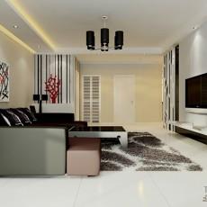 精选大小109平现代三居客厅实景图片