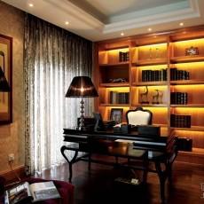 170万打造美式风格书房装修效果图大全2014图片