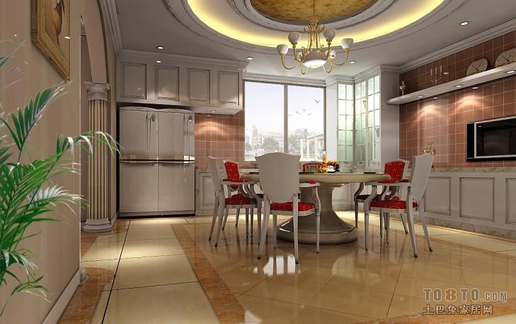 美式室内餐厅空间设计装修效果图