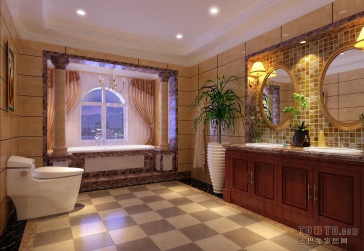 罗马米黄-卫生间-新中式风格