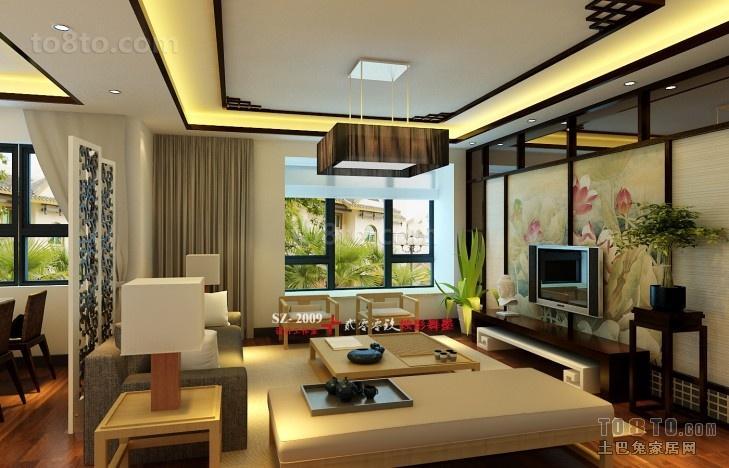 中式客厅吊顶设计效果图大全