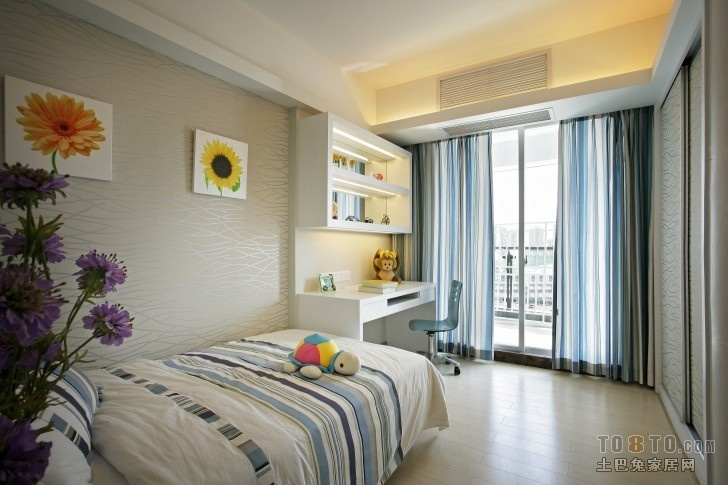 最新流行现代卧室装修效果图大全2013图片欣赏