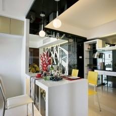 精美101平方三居餐厅混搭装修设计效果图片欣赏