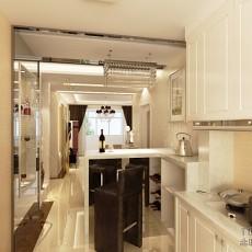 面积73平现代二居厨房欣赏图片