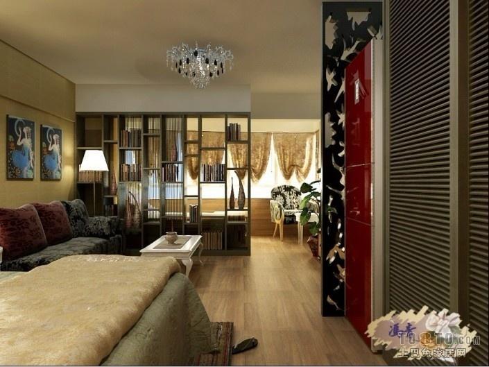 面积72平小户型客厅混搭实景图片大全