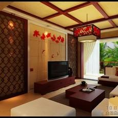 精美面积97平东南亚三居客厅装饰图片大全