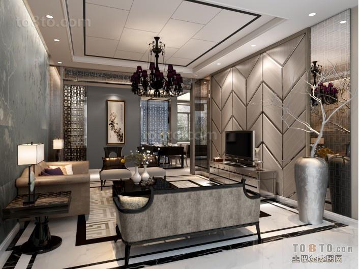 香港现代风格客厅电视背景墙装修效果图