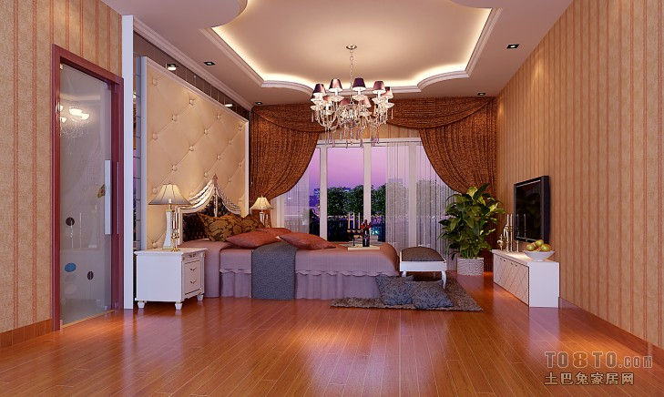美式简约两居室设计装修效果图片